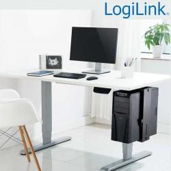 Logilink EO0030 - Soporte CPU bajo mesa, Giratorio, Bloqueo Fácil