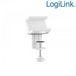 Logilink KAB0067 - Soporte para regleta de enchufes con abrazadera de montaje en mesa