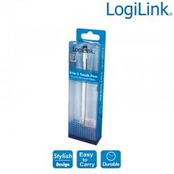 Logilink AA0041 - Boligrafo Touch Pen para Smartphone, Tablet, plata