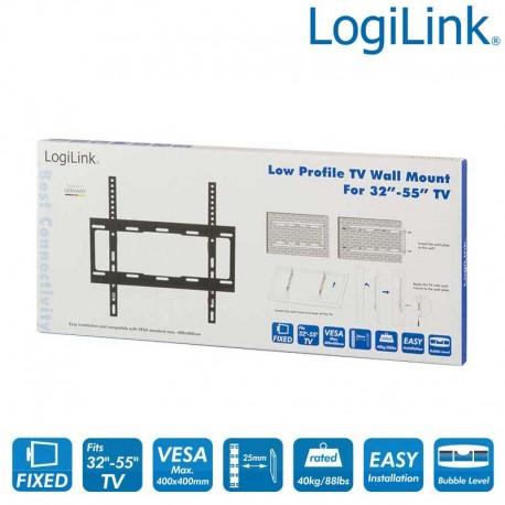 Logilink BP0011 - Soporte TV de Pared Fijo, 32-55'', 40 kg