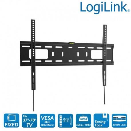 Logilink BP0017 - Soporte TV de Pared Fijo, 37-70'', 50 kg   Marlex Conexion
