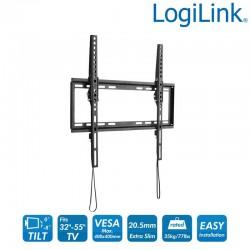 Soporte TV de Pared, inclinación -8º/0º, 32-55'', 35 kg Logilink BP0010