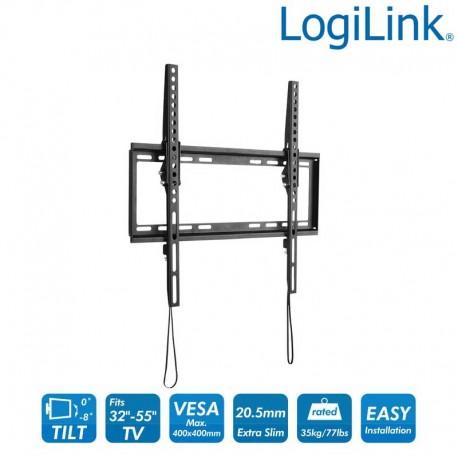 Logilink BP0010 - Soporte TV de Pared, inclinación -8º/0º, 32-55'', 35 kg
