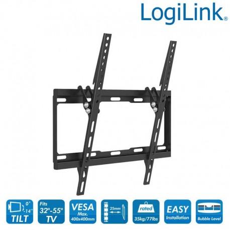 Logilink BP0012 - Soporte TV de Pared, inclinación -14º/0º, 32-55'', 35 kg