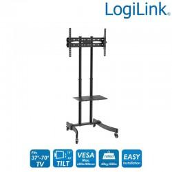 Logilink BP0026 - Soportes de suelo ''Carrito'' de Altura ajustable, 37-70'', 40 Kg