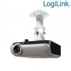 Logilink BP0003 - Soporte de Techo para Video Proyector, 15Kg, 22cm, Blanco   Marlex Conexion