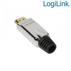 Conector HDMI tipo A Macho aéreo Metálico para soldar Logilink CHP001