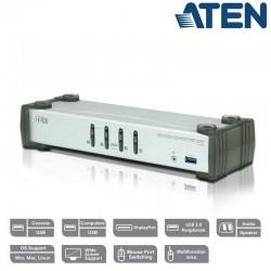 KVM de 4 Puertos USB 3.0 DisplayPort 1.1, con Audio Aten CS1914