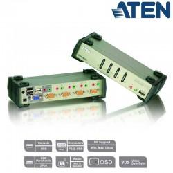KVM de 4 Puertos USB PS/2 VGA con Audio (Cab USB incl) Aten CS1734B