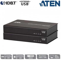 Aten CE610A - Extensor de KVM DVI HDBaseT con ExtremeUSB® (1920 x 1200 a 100m)