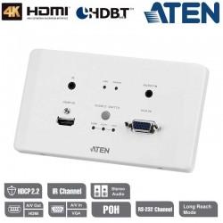 Aten VE2812AEUT - Transmisor encastrable (EU) HDMI/VGA HDBaseT POH (4K a 100 m)