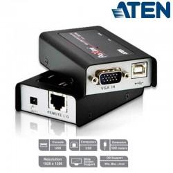 Extensor KVM USB-VGA 100m Tamaño Mini Aten CE100