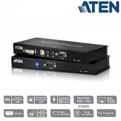 Extensor KVM USB-DVI con Audio y RS-232 (60m) Aten CE600