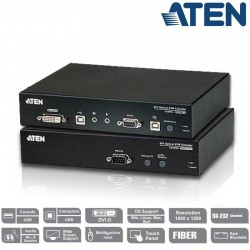 Extensor KVM USB-DVI por Fibra Optica (600m) Aten CE680