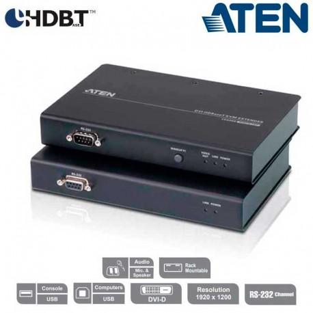 Aten CE620 - Extensor KVM USB-DVI (100m), HDBaseT 2.0, USB Perif