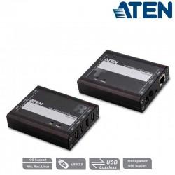 Aten UCE32100 - Extensor USB 2.0 CAT 5 de 4 puertos (hasta 100 m)