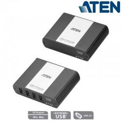 Aten UEH4002A - Extensor USB 2.0 de 4 Puertos sobre Cat.5e/ 6 (100m) | Marlex Conexion