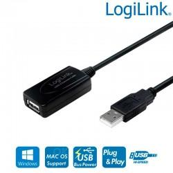 Logilink UA0143 - Cable Amplificador USB 2.0 (10m) | Marlex Conexion
