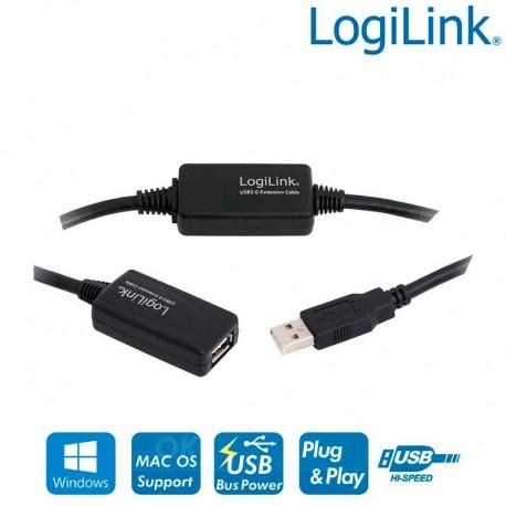 Logilink UA0145 - Cable Amplificador USB 2.0 (15m) | Marlex Conexion