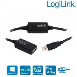 Logilink UA0147 - Cable Amplificador USB 2.0 (25m) | Marlex Conexion