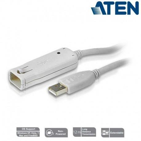 Aten UE2120 - Cable Amplificador USB 2.0 (12m)   Marlex Conexion