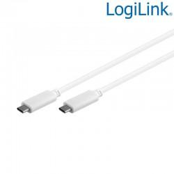 Logilink CU0130 - 0,5m Cable USB 3.2 (Gen 2) Tipo C, Blanco   Marlex Conexion