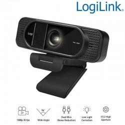 Logilink UA0381 - Webcam USB Angulo Visión 96º 1920x1080p FULL HD