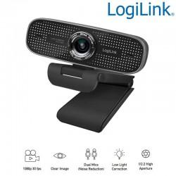 Logilink UA0378 Webcam USB Angulo Visión 100º 1920x1080p FULL HD