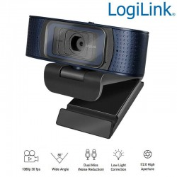 Logilink UA0379 Webcam USB Angulo Visión 80º 1920x1080p FULL HD