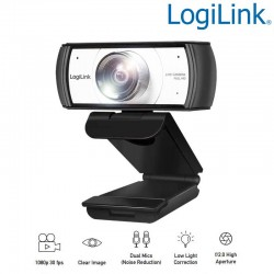 Logilink UA0377 Webcam USB Angulo Visión 120º 1920x1080p FULL HD
