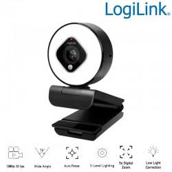 Logilink UA0384 - Webcam USB Angulo Visión 76º 1920x1080p FULL HD