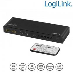 Logilink HD0049 - Conmutador Matricial HDMI 4x2, 4K | Marlex conexion