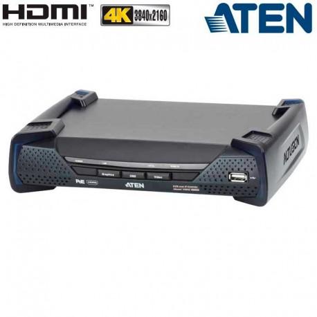 Aten KE8952R - Receptor KVM USB-HDMI 4K con Audio y RS232 sobre LAN con POE