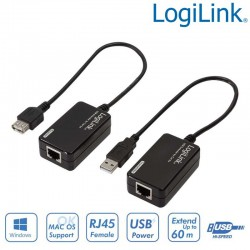 Logilink UA0021D - Extensor USB 1.1 sobre Cat.5e/ 6 (60m) | Marlex Conexion