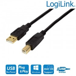 Cable Activo USB 2.0 A-B Negro (20m) Logilink UA0266