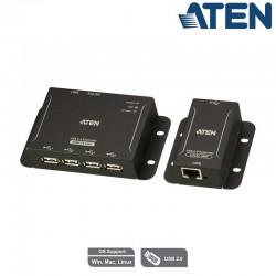 Extensor USB 2.0 CAT 5 de 4 puertos (hasta 50 m) Aten UCE3250