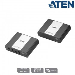 Extensor USB 2.0 a través de LAN RJ45 de 4 puertos Aten UEH4102