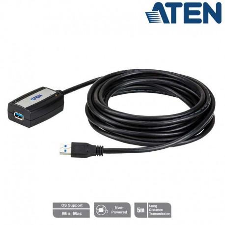 Aten UE350A - Cable Amplificador USB 3.0 (5m) | Marlex Conexion