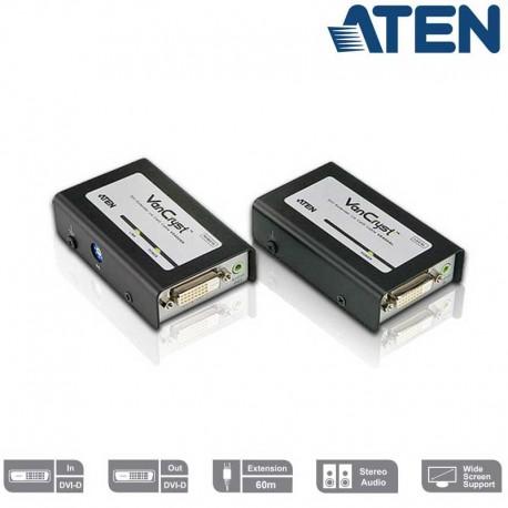 Aten VE600A - Extensor DVI sobre Cat5e/6 con Audio | Marlex Conexion