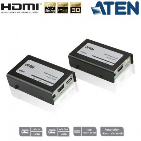 Aten VE803 - Extensor HDMI con USB sobre Cat5e/6 (60m)   Marlex