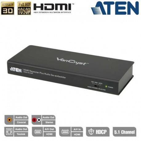 Aten VC880 - Repetidor HDMI con separación de señal de Audio   Marlex