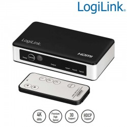 Logilink HD0044 - Conmutador HDMI de 3 puertos, 4K / 60Hz | Marlex