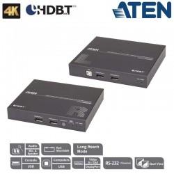 Aten CE924 - Extensor de KVM USB DisplayPort doble pantalla HDBaseT™ 2.0