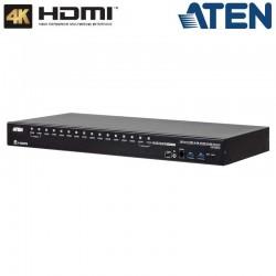 Aten CS18216 - KVM de 16 Puertos USB 3.0 HDMI 4K con Audio y Hub USB 3.0 para Rack 19''