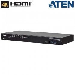 Aten CS18208 - KVM de 8 Puertos USB 3.0 HDMI 4K con Audio y Hub USB 3.0 para Rack 19''