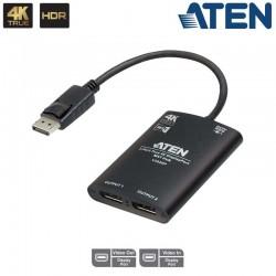 Aten VS92DP - Video Splitter MST DisplayPort 4K real de 2 Puertos