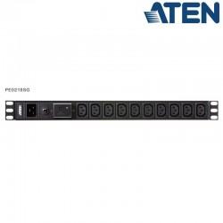 PDU Básica 1U de 17 Tomas C13 y 1 C19, con protección sobretensión,16A Aten PE0218SG