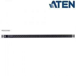 PDU Básica 0U de 22 Tomas C13 y 2 C19, con protección sobretensión,16A Aten PE0224SG