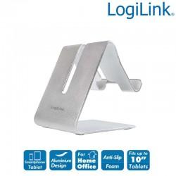 Logilink AA0122 - Soporte para smartphone y tablet, aluminio