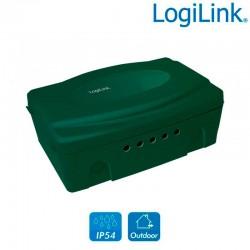 Logilink LPS272 - Caja eléctrica exterior con protección IP54, Verde